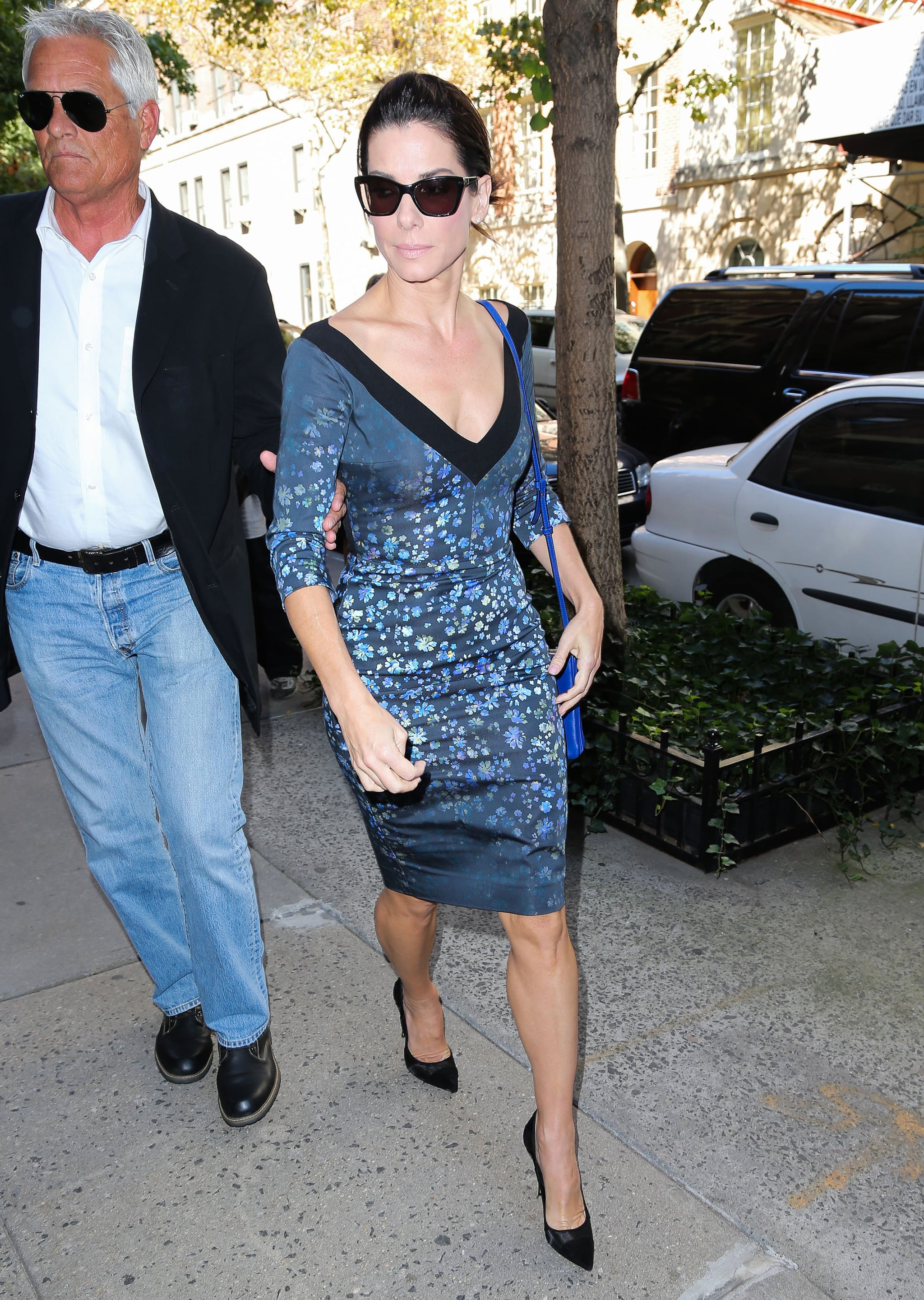 Sandra Bullock in Preen in New York City