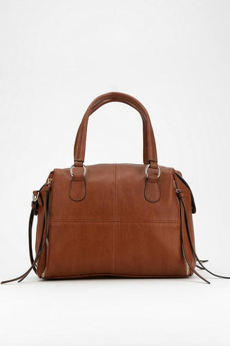 Deena & Ozzy Exposed-Zip Vegan Mini Duffle Bag