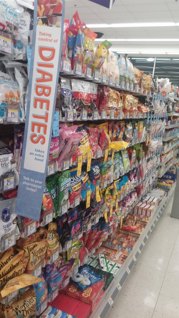 """I've always called it the candy aisle, but this works too . . ."" Source: Reddit user zqillini4 via Imgur"