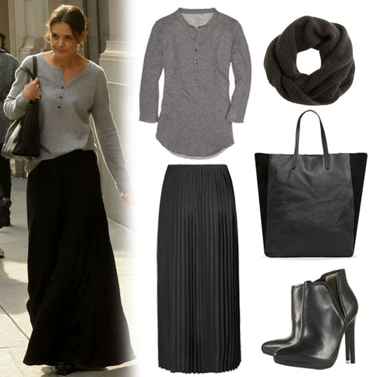 Cute Weekend Outfit With Long Skirt