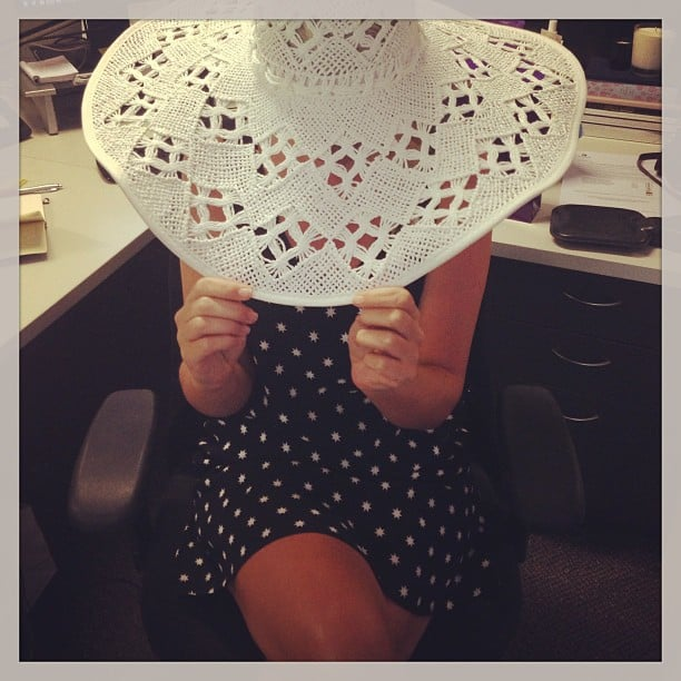 We're loving this floppy '70s-style Seafolly hat that the lovely people at Nivea sent Alison.
