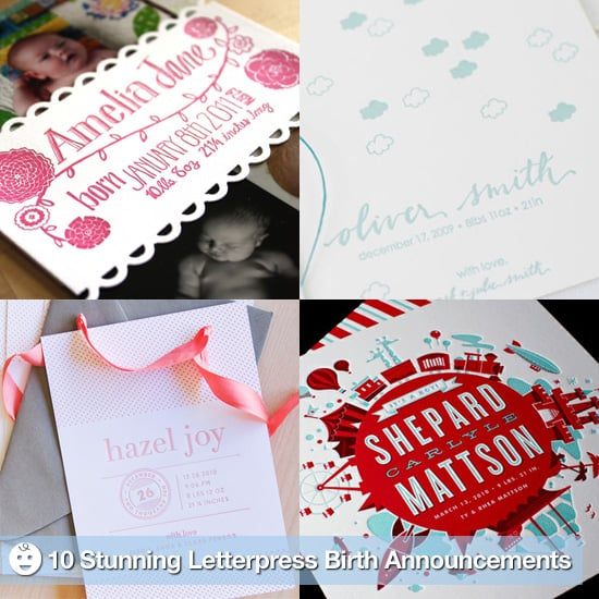 Elegant Letterpress Birth Announcements