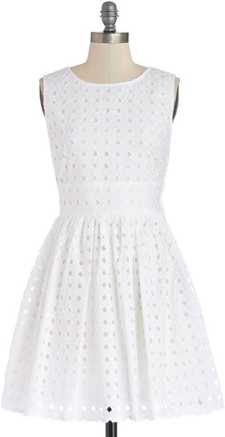BB Dakota White Eyelet Dress
