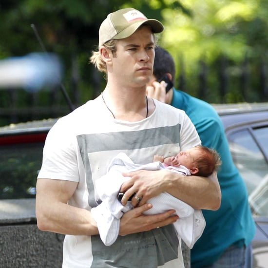 Chris Hemsworth Baby India Pictures