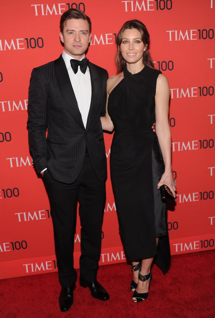 Justin Timberlake and Jessica Biel arrived in smiles on the red carpet.