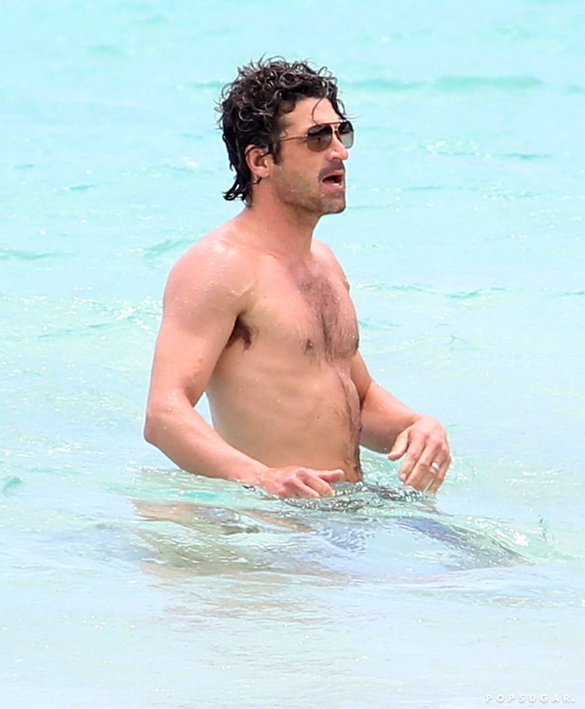 Shirtless Patrick Dempsey Celebrates Grey's Finale With a Family Getaway