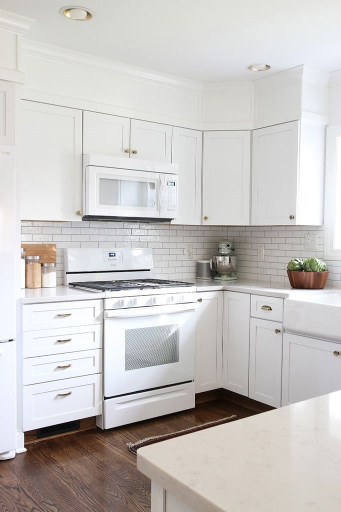 Easy old home updates popsugar home for Are white kitchen cabinets outdated