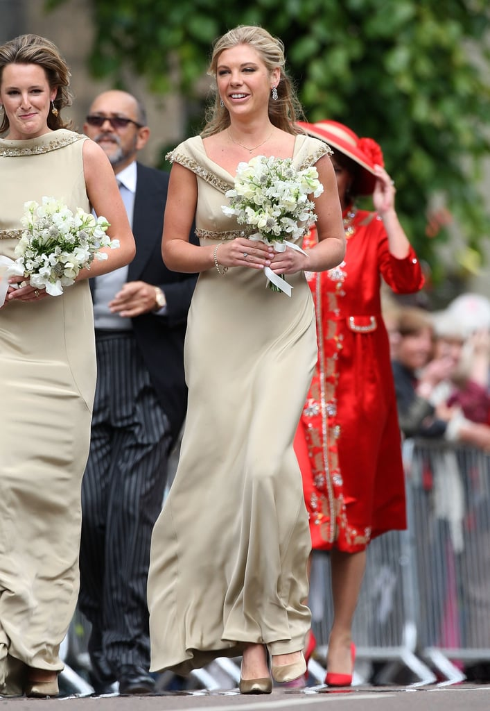 Chelsy Davy carried a bouquet.