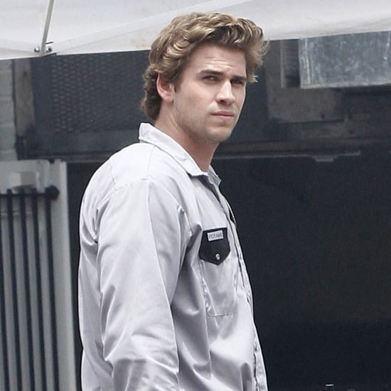 Liam Hemsworth Pictures on Empire State Set
