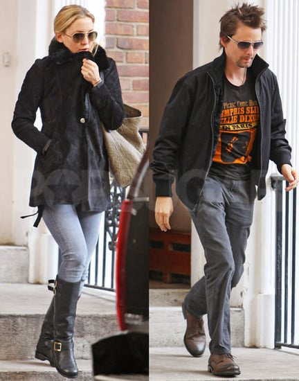 Pictures of Kate Hudson and Matt Bellamy Leaving Her Home in NYC