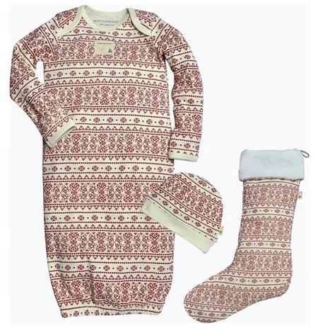 Burt's Bees Baby Infants' Fair Isle Holiday Gown & Stocking Pajamas Set