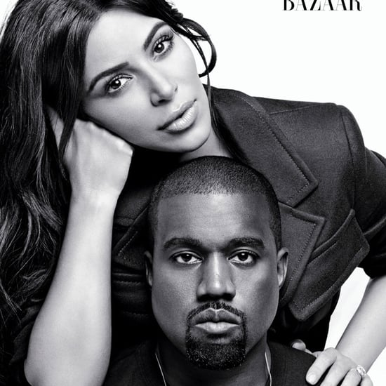 Kim Kardashian and Kanye West on Harper's Bazaar August 2016