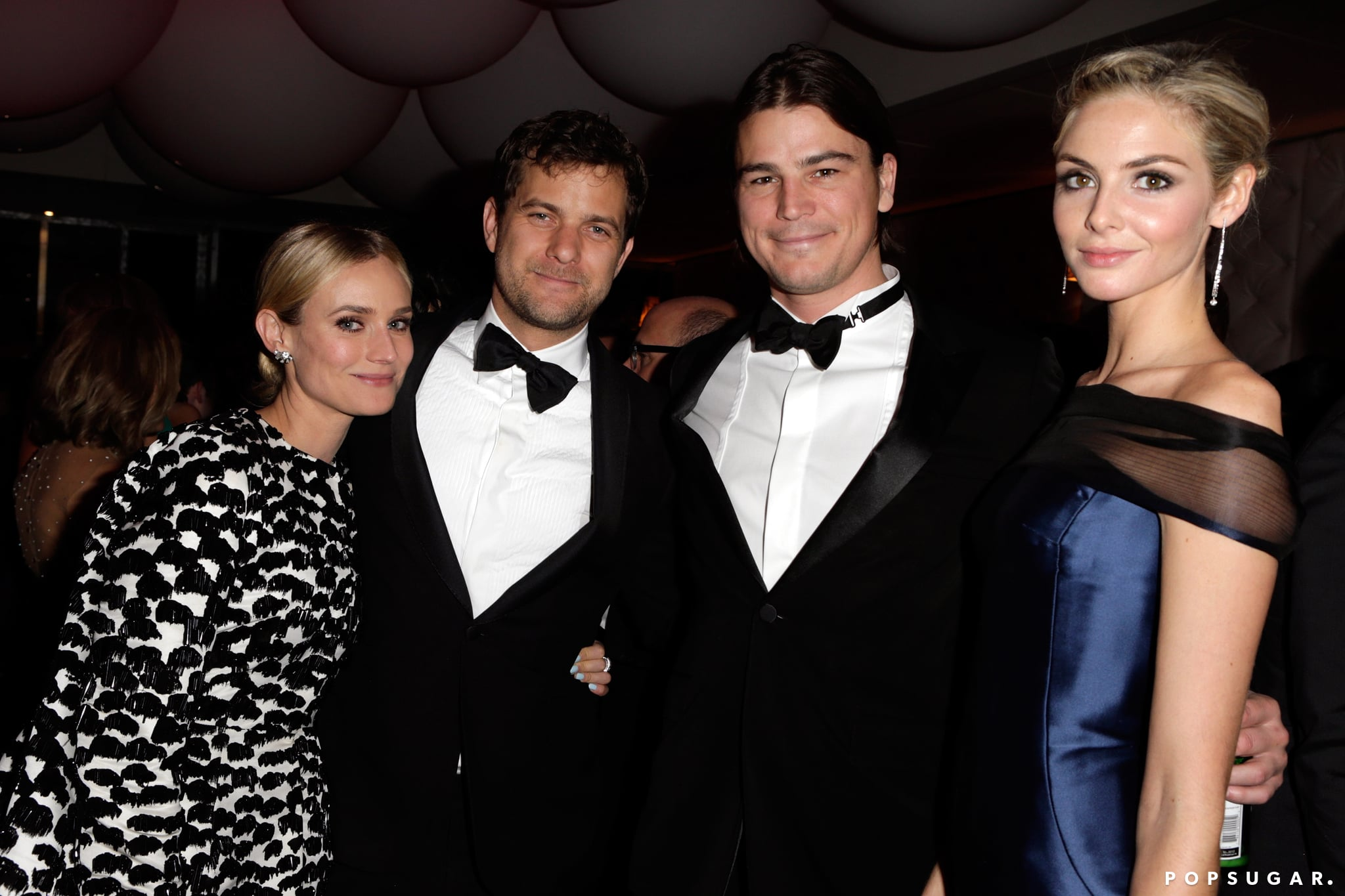 Diane Kruger and boyfriend Joshua Jackson hung out with Josh Hartnett and Tamsin Egerton at Vanity Fair's Oscar afterparty.