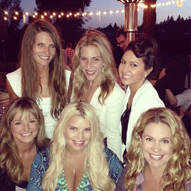 Jessica Simpson and CaCee Cobb hung out with the bride and friends on Friday.  Source: Instagram user asands78