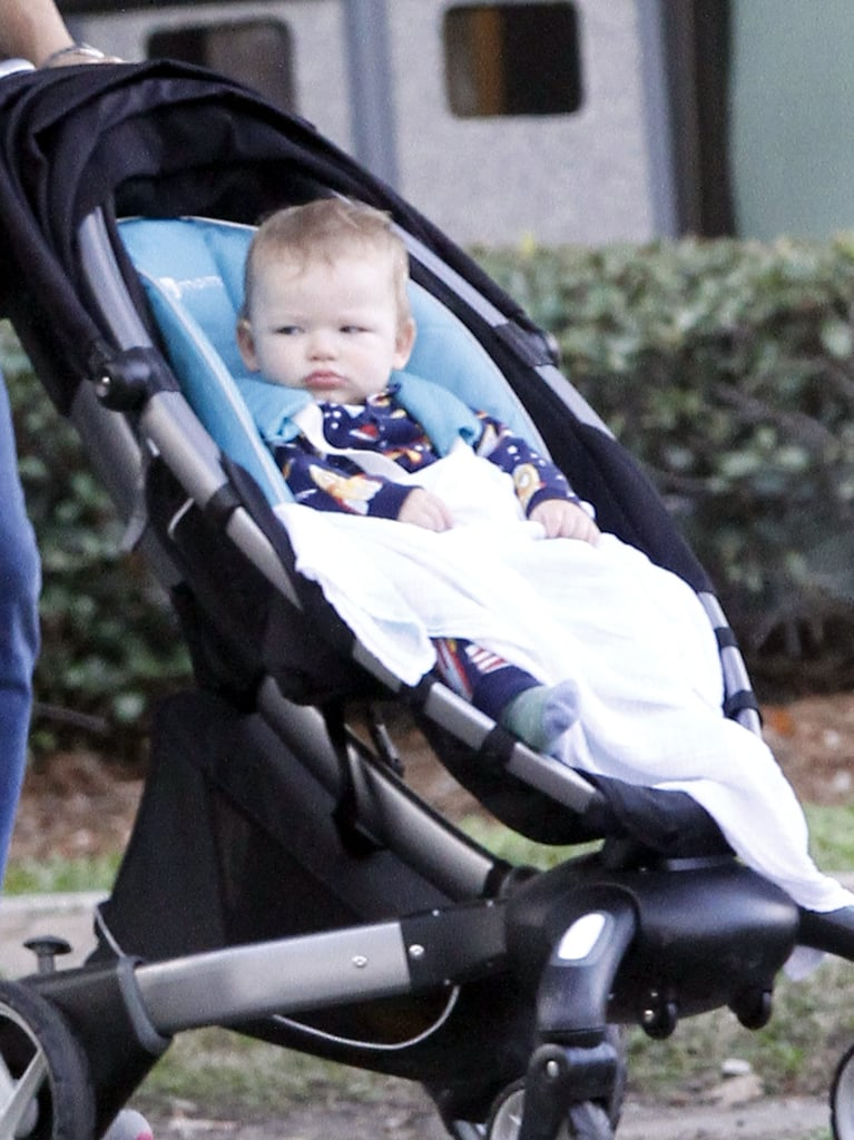 Samuel Affleck went with his mom on a coffee run in New Orleans.