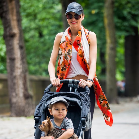 Miranda Kerr and Flynn Bloom Walking in NYC