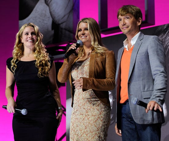 Slide Picture of Jessica Simpson with CaCee Cobb and Ken Paves at VH1 event in New York