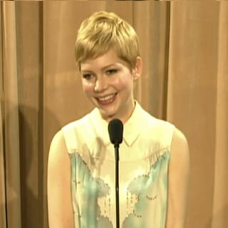 Michelle Williams at 2012 Oscar Luncheon (Video)