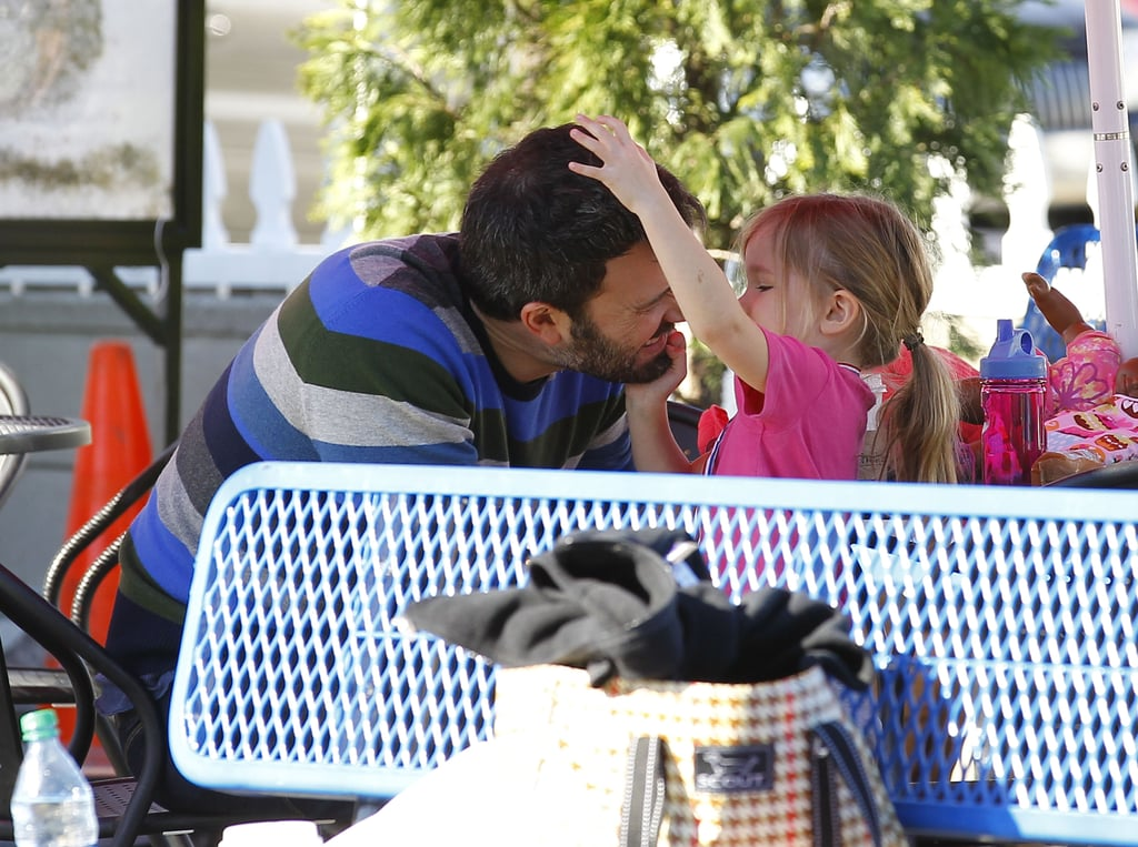 Seraphina Affleck played with her dad.
