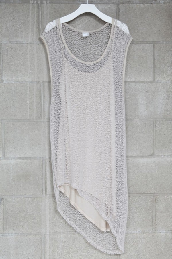 This semi-sheer dress is perfect for throwing on over a bikini.  Mikkat Market Asymmetric Mesh Dress ($43)
