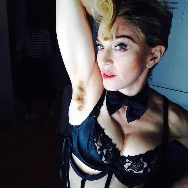 Madonna has a long-armpit-hair, don't-care mentality. Source: Instagram user madonna