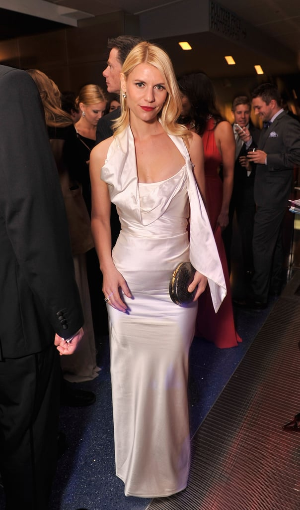 Claire wowed in a silky white asymmetrical-cut Vivienne Westwood gown at this year's White House Correspondents' Association dinner.