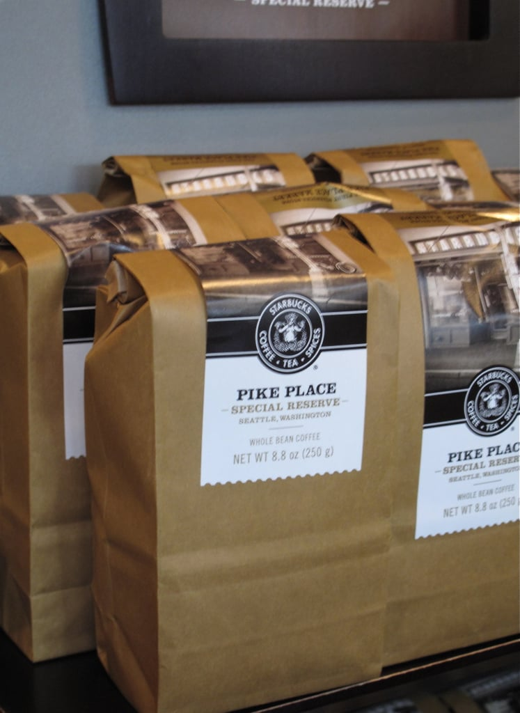 The store offers one whole bean coffee by the bag, the Pike Place Special Reserve, that is not available at any other location.