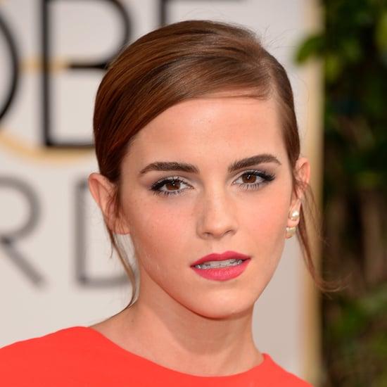 Emma Watson's Hair and Makeup at Golden Globes 2014
