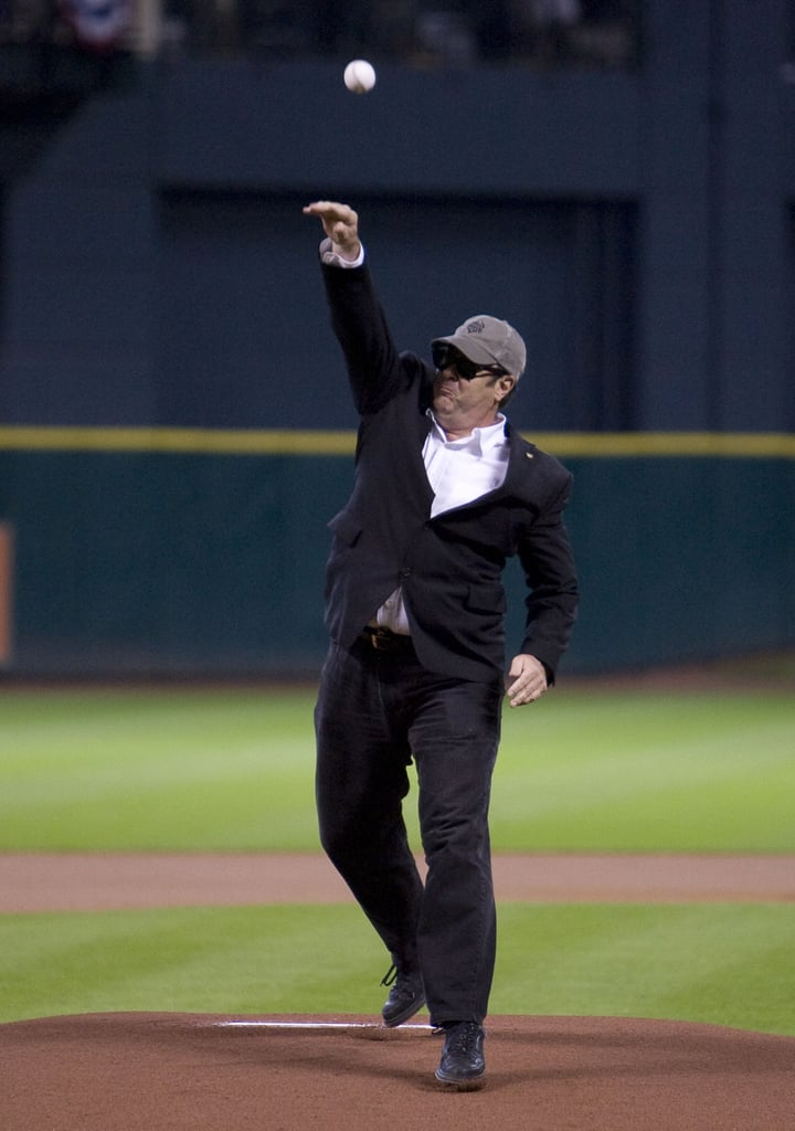 In June 2008, Dan Aykroyd threw the first pitch at a Houston Astros matchup.