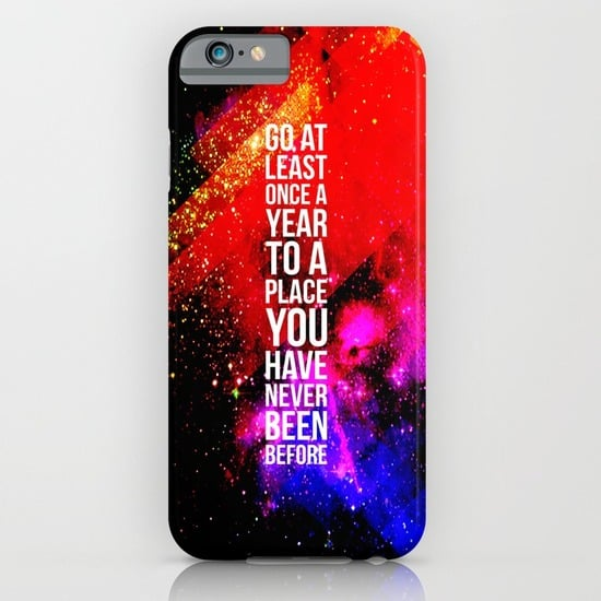 Get motivated with this travel-inspired iPhone case ($35).
