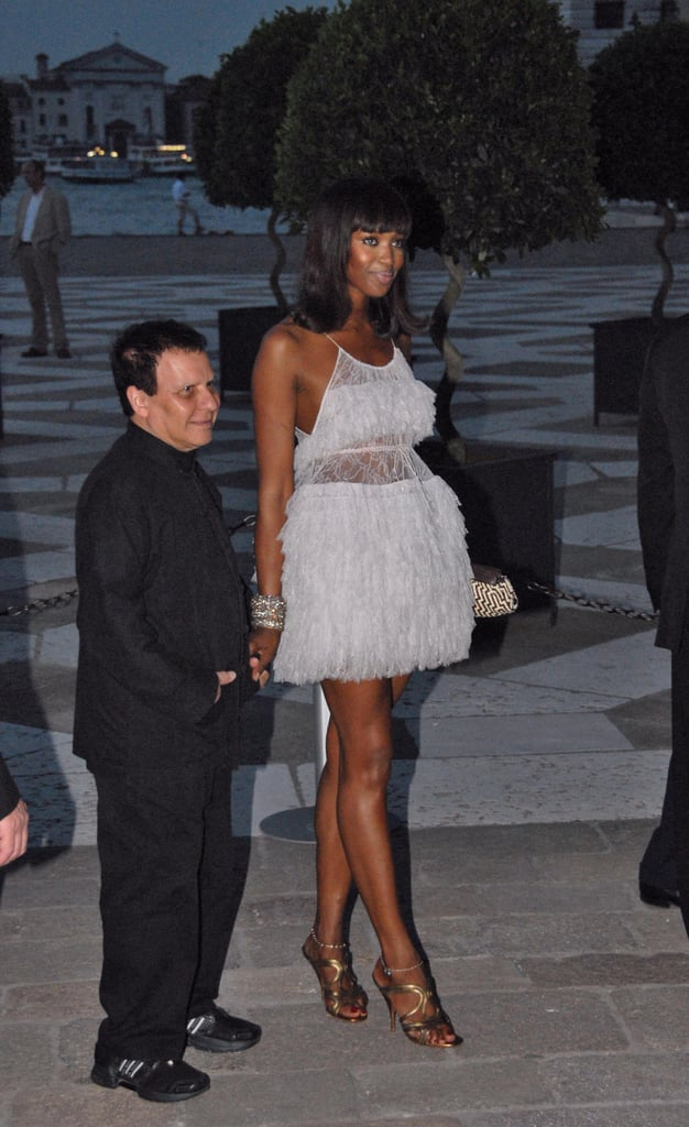 Naomi with Alaia in 2007.