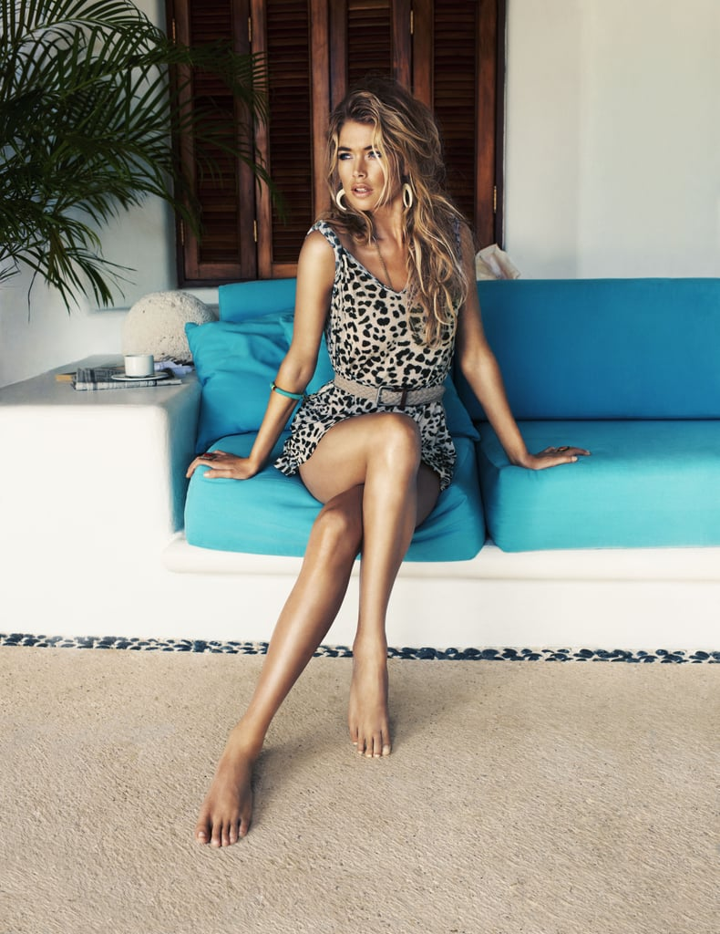 Animal print and exotic earrings make a statement in the H&M High Summer '13 campaign.