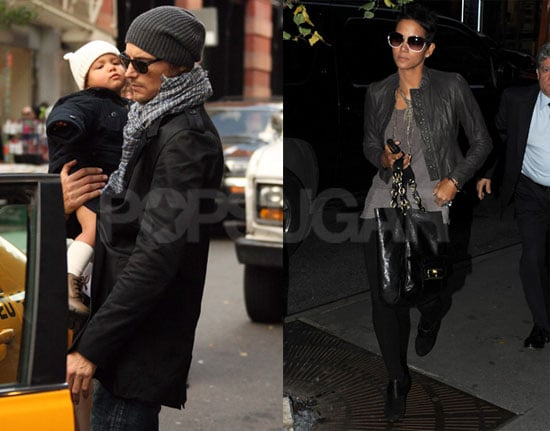 Photos of Halle Berry, Gabriel Aubry And Nahla Aubry in NYC
