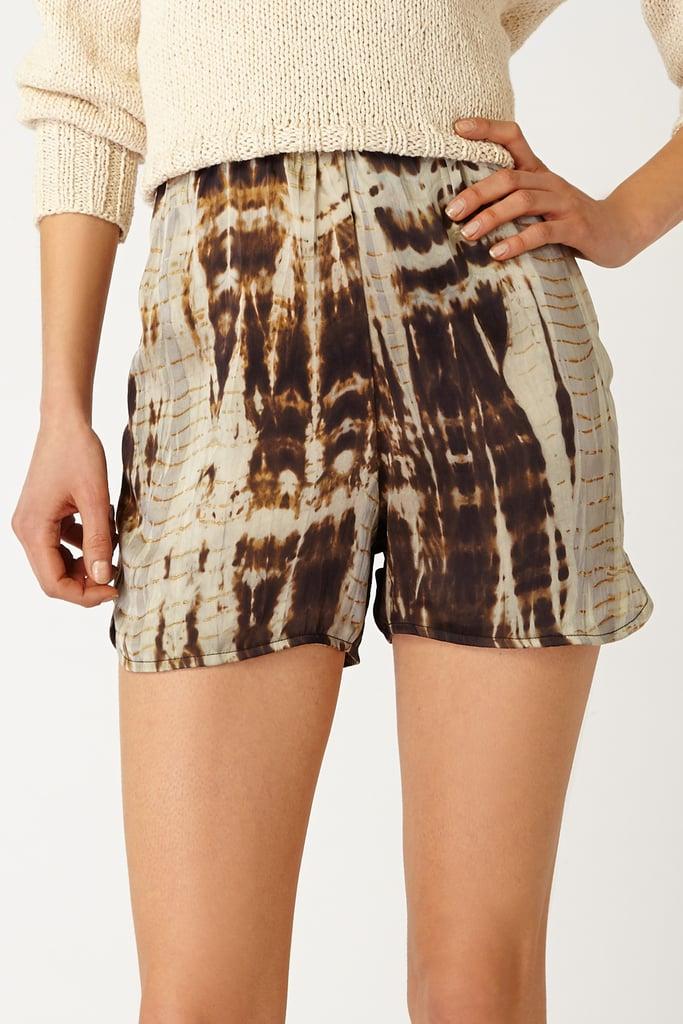 Voz Silk Tie-Dye Shorts