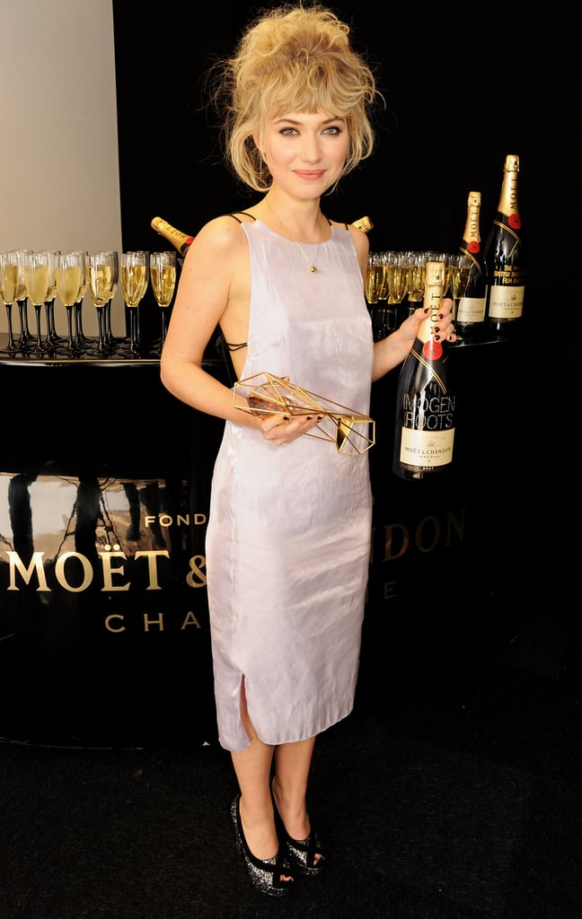 What better way to accessorise a party dress than with a customised bottle of Moët?