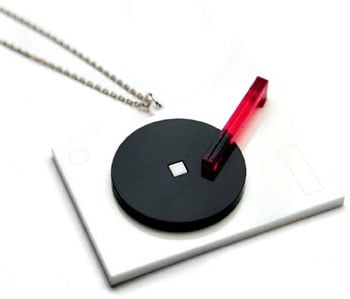 Handmade Turntable Necklace