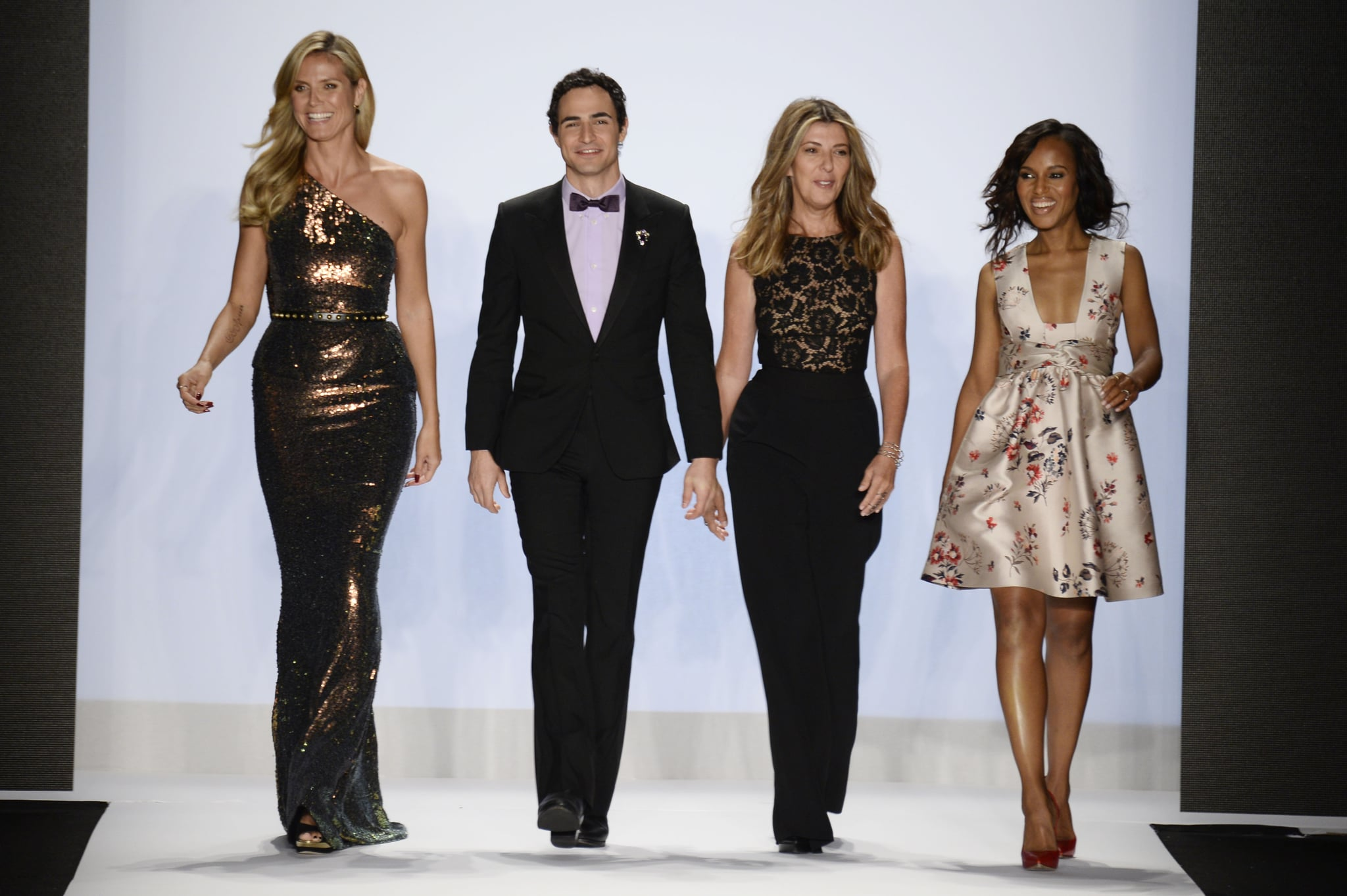 Heidi Klum was joined by her Project Runway guest judges Zac Posen, Nina Garcia, and Kerry Washington for the show's finale presentation on Friday.