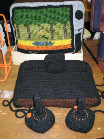 Totally Geeky or Geek Chic? Crocheted Atari