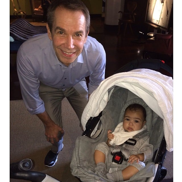"""North got """"art lessons"""" with Jeff Koons during Miami's Art Basel in December 2013."""