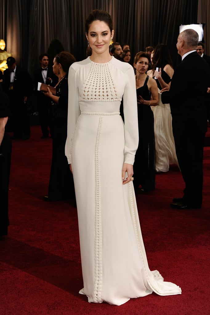 Shailene Woodley in White Valentino Gown at the 2012 Oscars