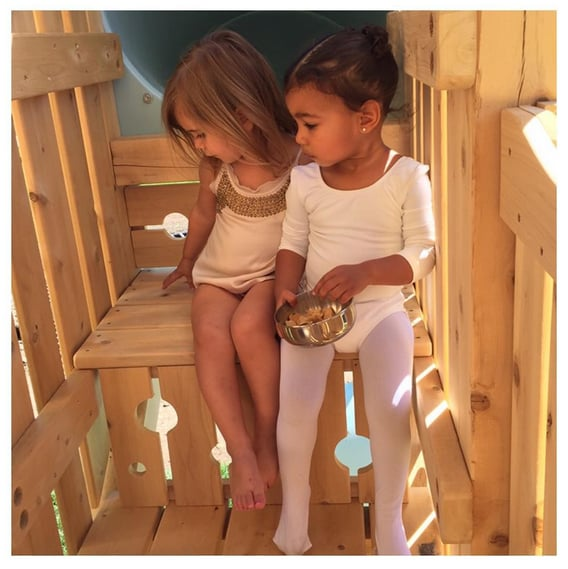 North and her cousin Penelope went to ballet class together.