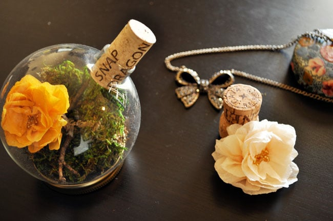 Terrarium Place Card Holders