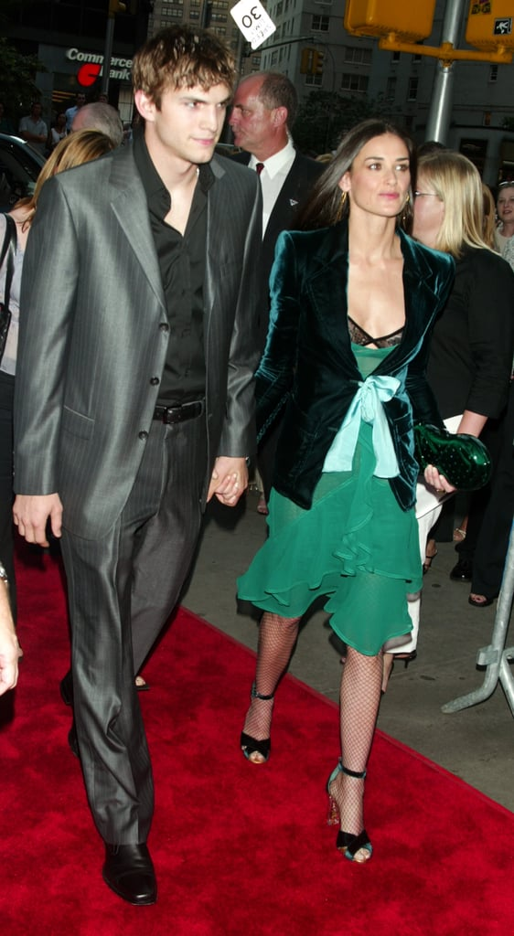 Stepping out with Ashton in gorgeous, emerald-hued YSL.