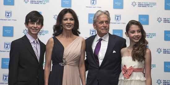 Catherine Zeta-Jones And Michael Douglas Hit The Red Carpet With Their Kids