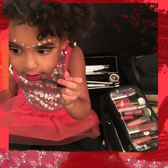 Blue Ivy Carter Applying Makeup