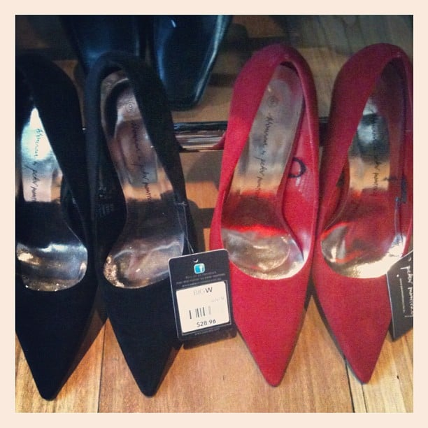 Ali spotted these very on-trend pointed toe pumps courtesy of Peter Morissey at Big W. Run!