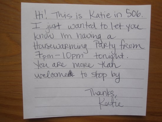 Hostess Tip: Inform Neighbors About Your Party