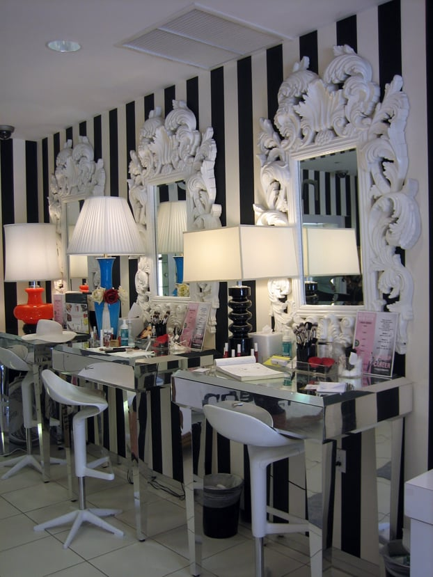 Makeup Chairs at the Boutique