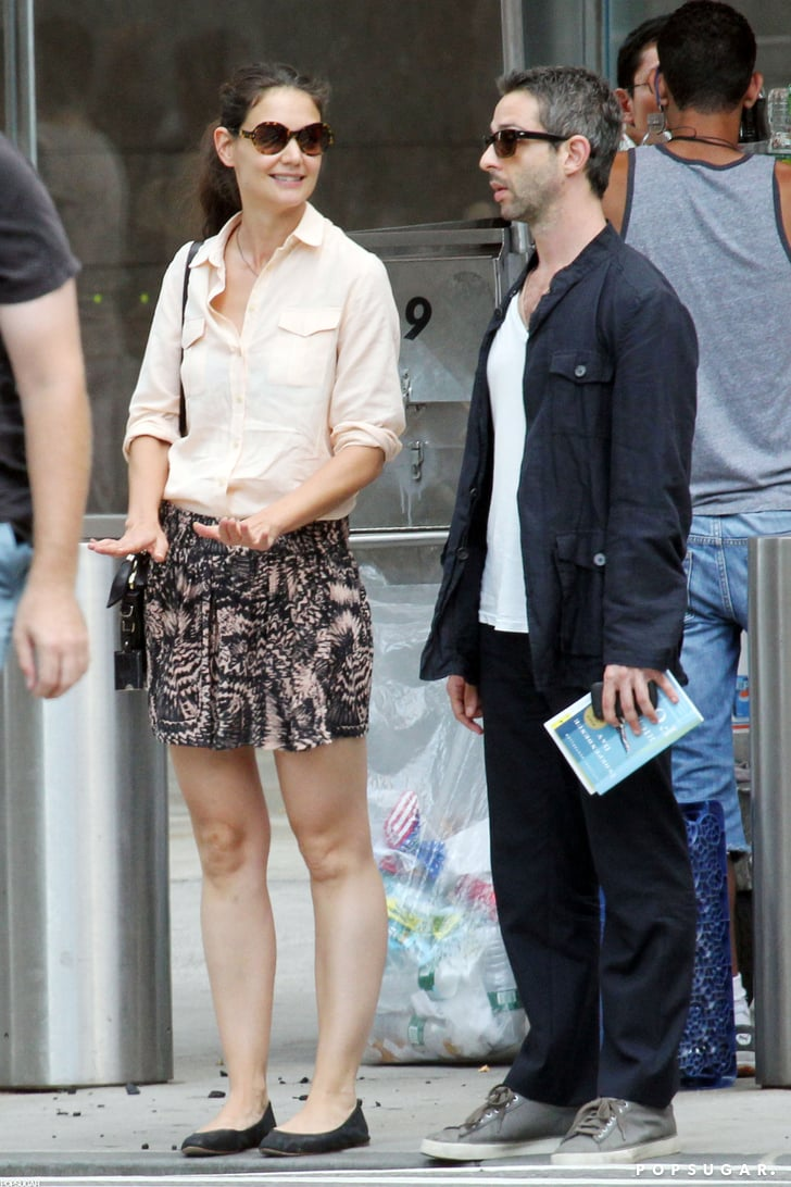 Katie Holmes and Jeremy Strong met up in NYC.