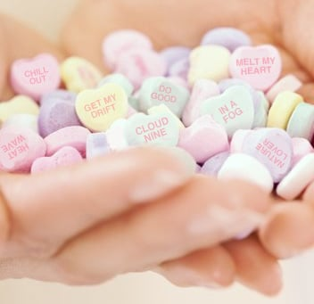 New Conversation Heart Phrases Are All About the Weather
